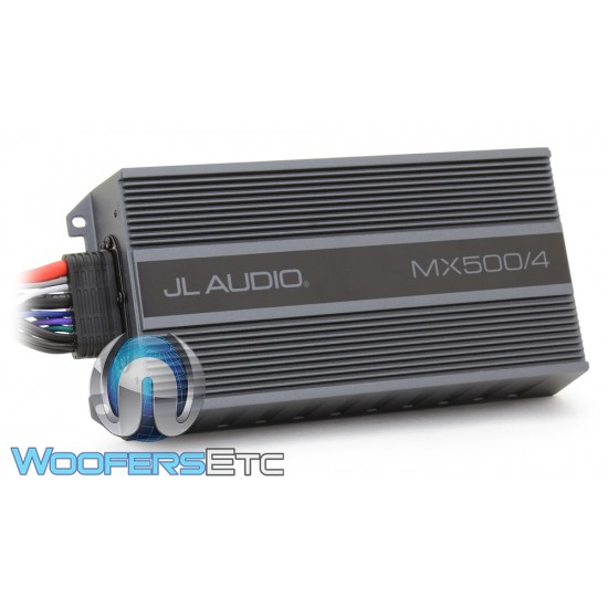 JL Audio MX500/4 4-Channel 125W RMS x 4 Compact Marine Powersports Amplifier