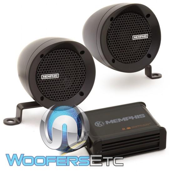 """Memphis MXABMB2 3"""" Bullet Style MXA Powersports Speaker Kit (Black)"""