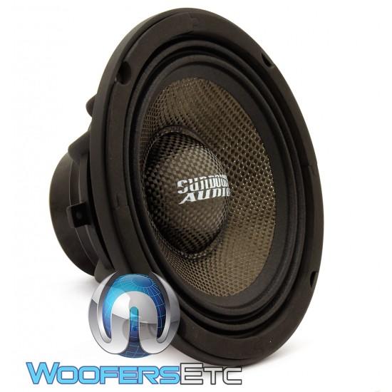 "Sundown Audio NeoPro-8 V3 8"" 200W RMS 4-Ohm Carbon Fiber Midrange Speaker (Single)"