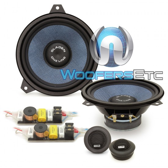 Gladen Mosconi ONE LINE BMW E46 100W RMS 2Way Component Speakers