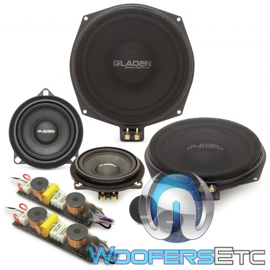 """Gladen ONE 201 BMW 8"""" 85W RMS 3-Way Component Speakers System"""