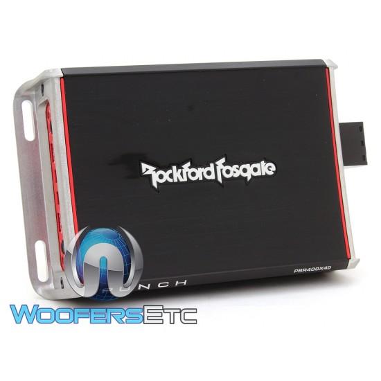 Rockford Fosgate PBR400X4D 4-Channel 400W Compact Punch Amplifier