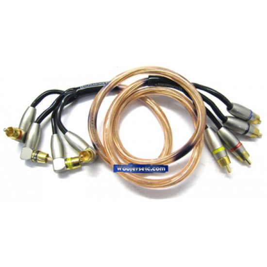 PCA40 - Alphasonik 0.5 Meter (1.6 Feet) 4 Channel RCA Signal Cable