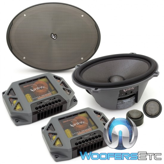 """Infinity Kappa Perfect 900 6"""" x 9"""" 300W RMS Kappa Perfect Series 2-Way Component Speakers System"""