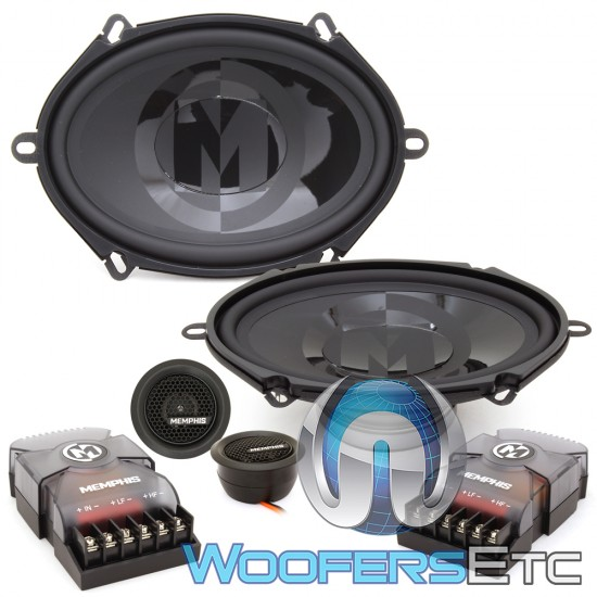 """Memphis PRX570C 5"""" x 7"""" 50W RMS 2-Way Component Speakers System"""