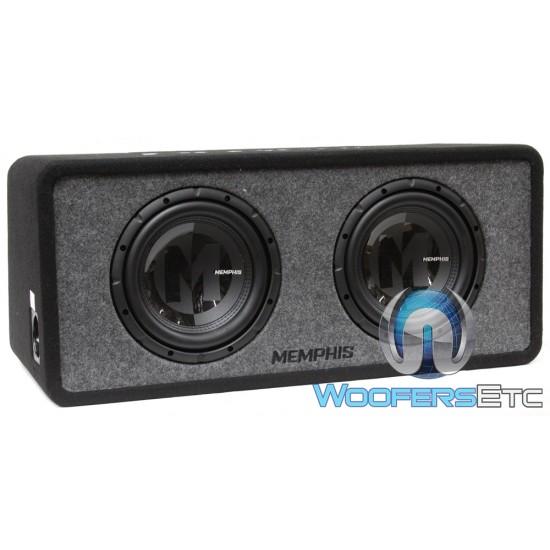"""Memphis PRXE10D2 Dual 10"""" 1000W MDF Loaded Enclosed Subwoofer"""