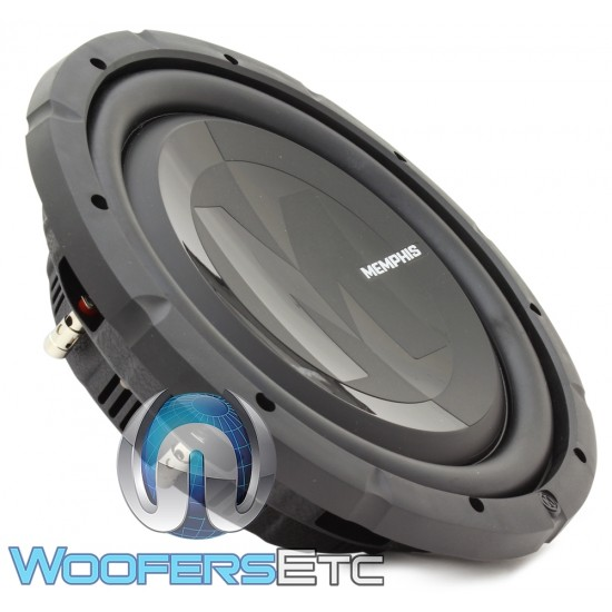 "Memphis PRXS1244 12"" 350W RMS Dual 4-Ohm Power Reference Shallow Subwoofer"