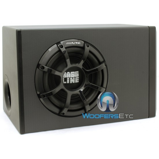 """PWA-S10V - Alpine 10"""" 750W Single Bass Line Series Enclosed Vented Subwoofer Angled Enclosure with Built-in Amplifier"""