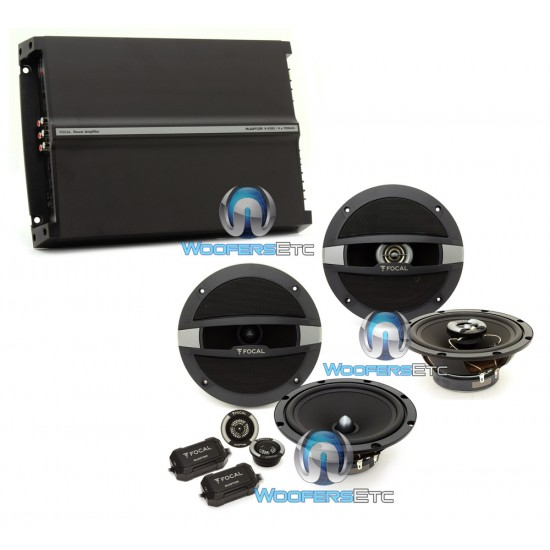 """pkg Focal Auditor R165S2 6.5"""" Component Speakers + R165C 6.5 Coaxial Speakers + R4280 4-Channel Amplifier"""