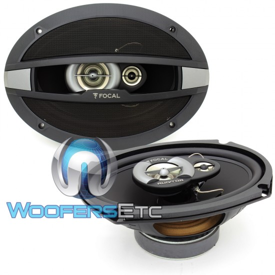 """R-690C - Focal Auditor Series 6"""" x 9"""" 80W RMS 3-Way Coaxial Speakers"""
