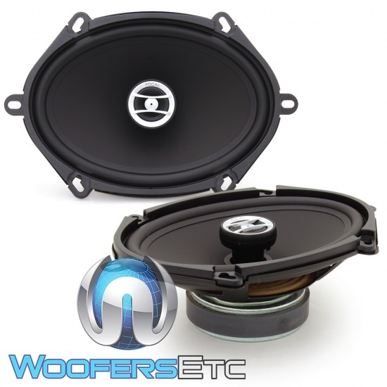 "Focal RCX-570 5"" x 7"", 6"" x 8"" 60W RMS 2-Way Auditor Series Coaxial Speakers"