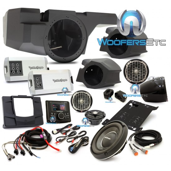 Rockford Fosgate RZR-STAGE5 1,150W Stereo, Front and Rear Speaker with Subwoofer Kit for Select Polaris RZR Models