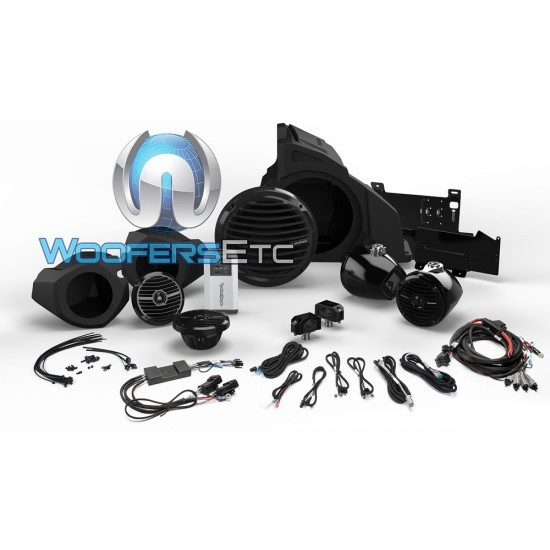 Rockford Fosgate RZR14RC-STAGE4 Audio Upgrade Kit for Select 2014-Up Polaris RZR Models with Ride Command