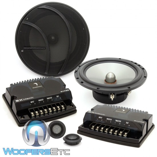 "SXP65S - Diamond Audio 6.5"" 150W RMS SXBlack Series Convertible Component Speaker System (Silk Tweeters)"