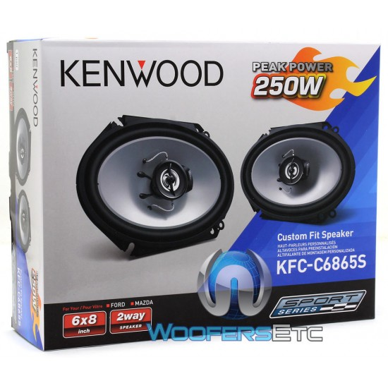 "KFC-C6865S - Kenwood 6"" X 8"" 250W 2-Way Custom Fit Coaxial Speakers"