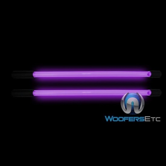 "P8S - Pair of Neon Lights Racey Purple/Pink 8"" Straight Neon Bars"