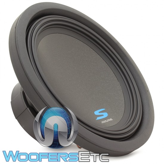 "Alpine S-W12D4 12"" 600W RMS Dual 4-Ohm S-Series Series Subwoofer"