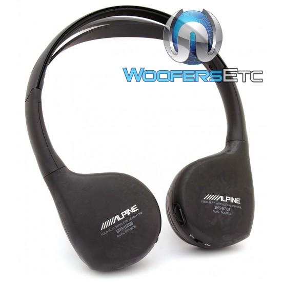 Alpine SHS-N206 Dual Source Wireless Headphones for PKG-RSE3DVD Overhead Monitor