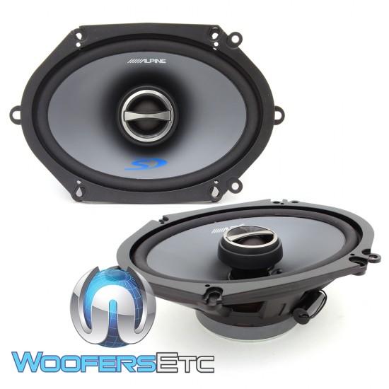 """Alpine SPS-517 5"""" x 7"""" Type-S 2-Way Coaxial Speakers"""
