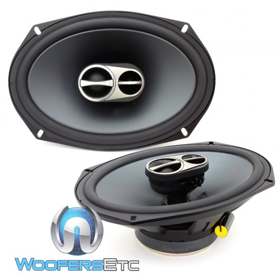Alpine SPS 619 6 X 9 170W RMS Type S 3 Way Coaxial Speakers