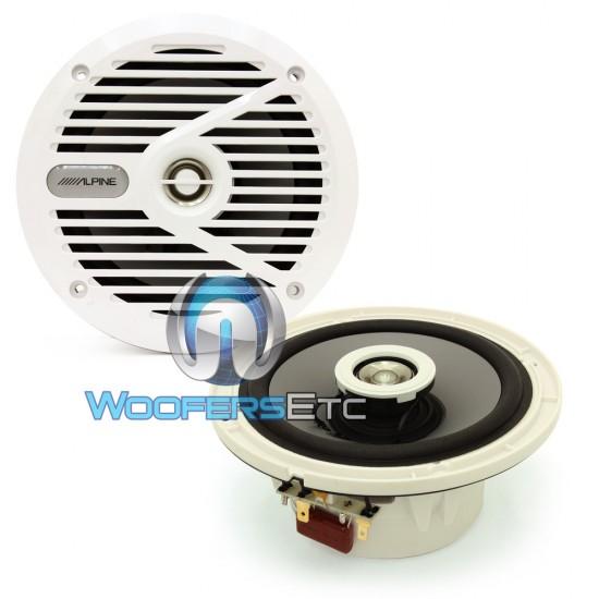 """SPS-M601W White - Alpine 6.5"""" 110W Peak 2-Way Marine Coaxial Speakers"""