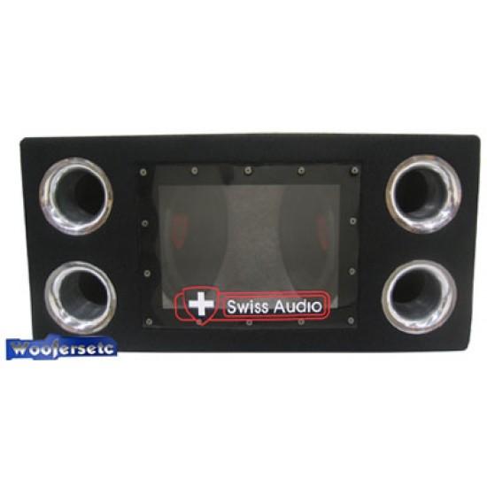 swiss audio dual 10 800 watt loaded bandpass enclosure sbp210 swiss audio dual 10 800 watt loaded bandpass enclosure