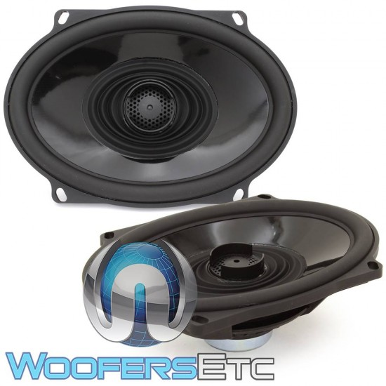 "Rockford Fosgate TMS57 5"" x 7"" 100W RMS 2-Way Full-Range Coaxial Harley Davidson Motorcycle Speakers"