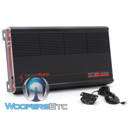 Precision Power TRAX1.3000D Monoblock 1500W RMS Class A/B Class Amplifier