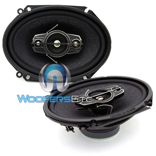 "TS-A6885R - Pioneer 6"" x 8"" 120W RMS 4-Way Coaxial Speakers"