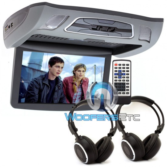 """VCM-103DAC Gray - Soundstream 10.3"""" LCD High Resolution Ceiling Mount DVD Player"""