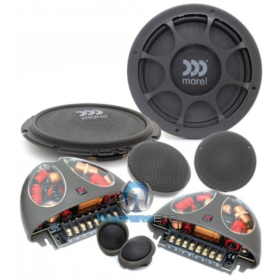 "Morel VIRTUS NANO 603 6.5"" 80W RMS 3-Way Component Speakers System"