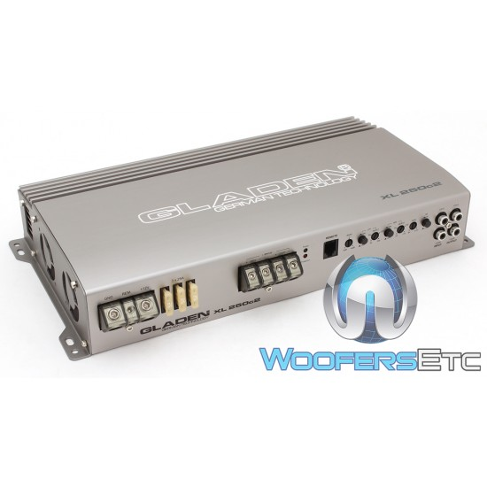 Gladen XL-250c2 2-Channel 750W RMS XL Amplifier