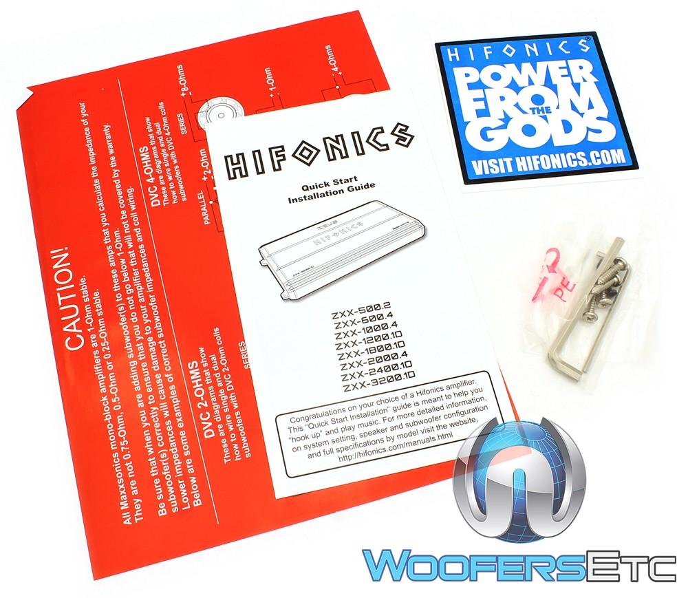 Zxx 32001d Hifonics Monoblock 3200w Max Class D Amplifier Amp Wiring Diagram
