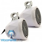 "Diamond Audio HXM8PODCFW 8"" 120 Watts RMS 2-Way Marine Coaxial Tower Speakers (Carbon Fiber White)"