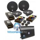 """pkg SRX4.300 - Memphis 4 Ch. 600W  Amplifier + (2) 15-SRX6C - Memphis 6.5"""" Component Speaker Systems"""
