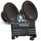 "pkg SOLID1 - Focal Monoblock 500 W RMS Power Amplifier + Pair of SUB P25 - Focal 10"" Subwoofers"