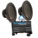 "pkg SOLID1 - Focal Monoblock 500 W RMS Power Amplifier + Pair of SUB P30 - Focal 12"" Subwoofers"