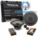 "pkg 165 V20 - Focal 6.5"" 70W RMS Polyglass Series 2-Way Component Speakers System + SOLID2 Black - FOCAL 2-Channel 200W RMS Power Amplifier"