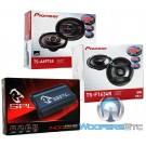 "3 Pkg TS-A6974S Pioneer 6"" x 9"" Coaxial Speakers + TS-F1634R Pioneer 6.5"" Coaxial Speakers + APE4-1400 SPL 4-Channel Amplifier"