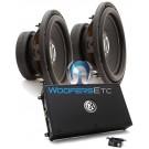 """pkg Memphis 16-PRX1.1000 Monoblock Amplifier + Pair of BR12D4 12"""" Dual 4-Ohm Subwoofers"""