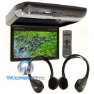 "PKG-RSE3HDMI - Alpine 10.1"" Overhead Flip Down WSVGA Video Monitor with Built-In DVD Player, USB and HDMI Input"