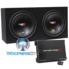 """BKX212S - Cerwin Vega 12"""" 4-Ohm 3000W Loaded Subwoofers Enclosure with Amplifier"""