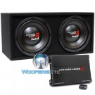 """BKH212 - Cerwin Vega 12"""" 4-Ohm 2000W Loaded HED Series Basskit Subwoofers Enclosure with Amplifier"""