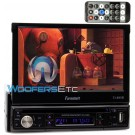 "TI-895B - Farenheit In-Dash 1-DIN 7"" Motorized Flip-Out LCD Touchscreen DVD/CD/USB Receiver with Bluetooth V3.0"