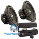 "Sundown Audio Package: (2) E-12 V3 D4 12"" Subwoofers + (1) SAE-1000D v2 Monoblock Amplifier"