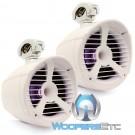 """Memphis 15-MXA82TWS White 8"""" 150 Watts RMS MXA Series Wakeboard Tower Marine Speakers"""