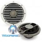 "Diamond Audio HXM52 5.25"" 60 Watts RMS 2-Way Marine Coaxial Speakers (White)"
