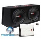 """Cerwin Vega BKX7212V 12"""" 1000 Watts RMS Dual Subwoofer Vented Amplified Enclosure"""