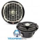 "Rockford Fosgate PM2652B Black 6.5"" 85 Watts 2-Way Full Range 4-Ohm Punch Series Marine Coaxial Speakers"
