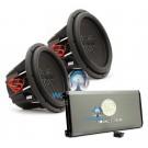 "pkg Soundstream T1.4000DL Monoblock 4,000W Max Class D Amplifier with a Pair of  Soundstream T5.124  12"" 1000W RMS 2000W Max Dual 4-Ohm Subwoofers"